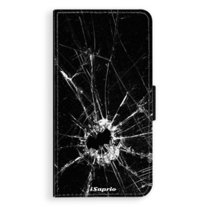 Flipové pouzdro iSaprio Broken Glass 10 na mobil Apple iPhone X