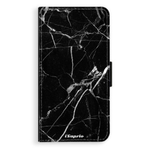 Flipové pouzdro iSaprio Black Marble 18 na mobil Apple iPhone X