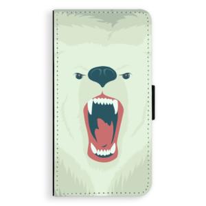 Flipové pouzdro iSaprio Naštvanej Medvěd na mobil Apple iPhone X