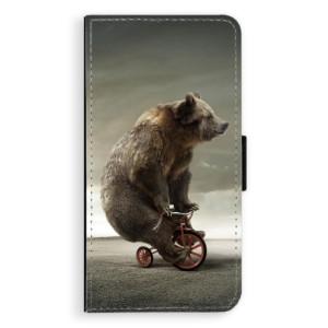 Flipové pouzdro iSaprio Medvěd 01 na mobil Apple iPhone X