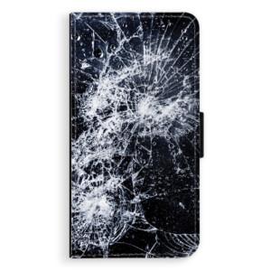 Flipové pouzdro iSaprio Praskliny na mobil Apple iPhone X