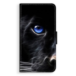 Flipové pouzdro iSaprio Black Puma na mobil Apple iPhone X
