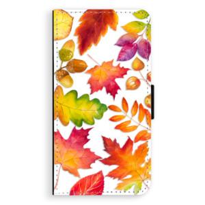 Flipové pouzdro iSaprio Podzimní Lístečky na mobil Apple iPhone X