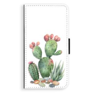 Flipové pouzdro iSaprio Kaktusy 01 na mobil Apple iPhone X