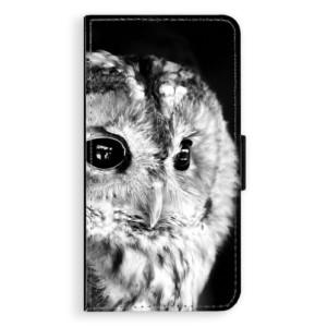 Flipové pouzdro iSaprio BW Sova na mobil Apple iPhone X