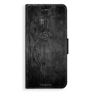 Flipové pouzdro iSaprio Black Wood 13 na mobil Samsung Galaxy S8 Plus