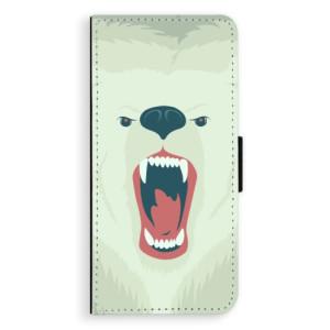 Flipové pouzdro iSaprio Naštvanej Medvěd na mobil Samsung Galaxy S8 Plus