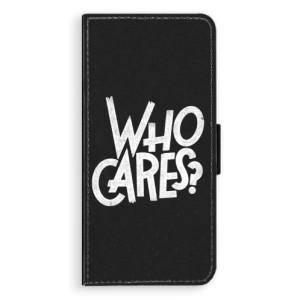 Flipové pouzdro iSaprio Who Cares na mobil Samsung Galaxy S8 Plus