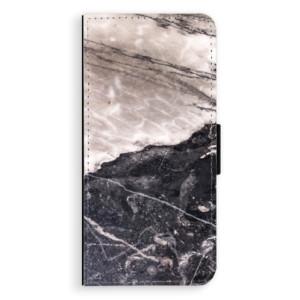Flipové pouzdro iSaprio BW Mramor na mobil Samsung Galaxy S8 Plus
