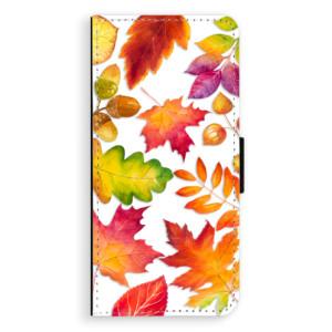 Flipové pouzdro iSaprio Podzimní Lístečky na mobil Samsung Galaxy S8 Plus