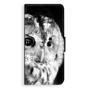 Flipové pouzdro iSaprio BW Sova na mobil Samsung Galaxy S8 Plus