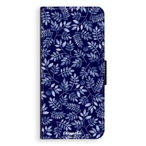Flipové pouzdro iSaprio Blue Leaves 05 na mobil Samsung Galaxy Note 8