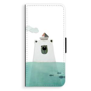 Flipové pouzdro iSaprio Medvěd s Lodí na mobil Samsung Galaxy Note 8