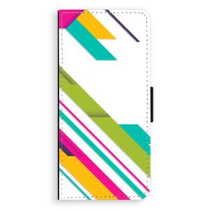 Flipové pouzdro iSaprio Barevné Pruhy 03 na mobil Samsung Galaxy Note 8