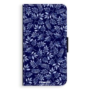 Flipové pouzdro iSaprio Blue Leaves 05 na mobil Samsung Galaxy A3