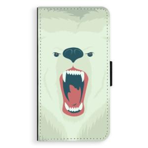 Flipové pouzdro iSaprio Naštvanej Medvěd na mobil Samsung Galaxy A3