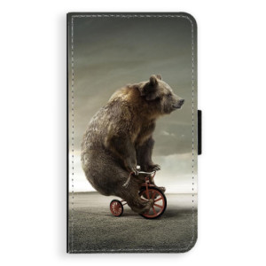 Flipové pouzdro iSaprio Medvěd 01 na mobil Samsung Galaxy A3
