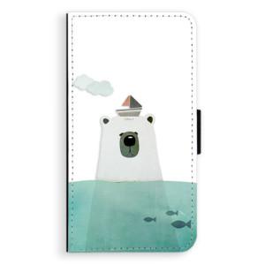 Flipové pouzdro iSaprio Medvěd s Lodí na mobil Samsung Galaxy A3