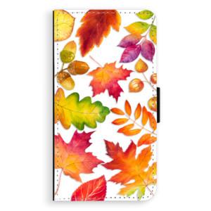 Flipové pouzdro iSaprio Podzimní Lístečky na mobil Samsung Galaxy A3