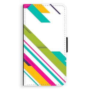 Flipové pouzdro iSaprio Barevné Pruhy 03 na mobil Samsung Galaxy A5