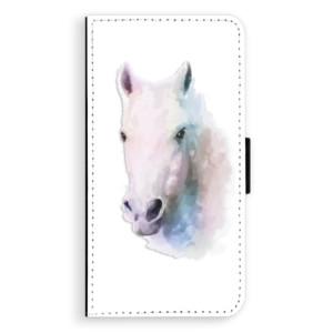 Flipové pouzdro iSaprio Bílý kůň 01 na mobil Samsung Galaxy A5
