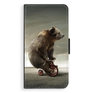 Flipové pouzdro iSaprio Medvěd 01 na mobil Samsung Galaxy J5