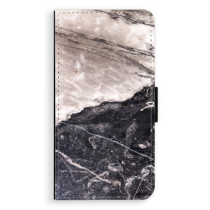 Flipové pouzdro iSaprio BW Mramor na mobil Samsung Galaxy J5