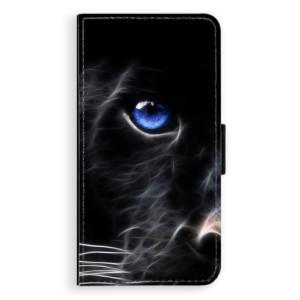 Flipové pouzdro iSaprio Black Puma na mobil Samsung Galaxy J5