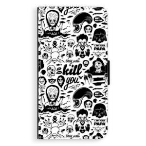 Flipové pouzdro iSaprio Komiks 01 black na mobil Samsung Galaxy J5