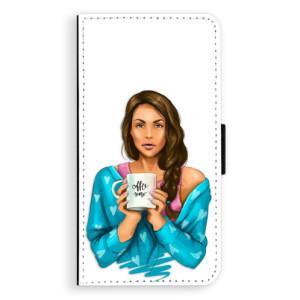 Flipové pouzdro iSaprio Coffee Now Brunetka na mobil Samsung Galaxy J5