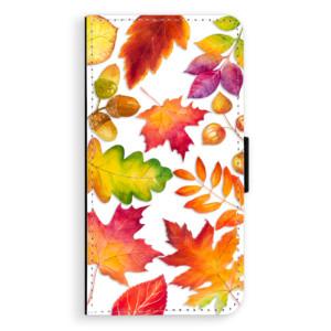 Flipové pouzdro iSaprio Podzimní Lístečky na mobil Samsung Galaxy J5
