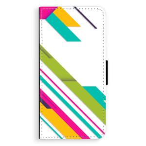 Flipové pouzdro iSaprio Barevné Pruhy 03 na mobil Sony Xperia XA