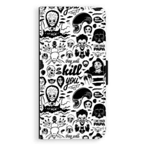Flipové pouzdro iSaprio Komiks 01 black na mobil Sony Xperia XA