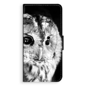 Flipové pouzdro iSaprio BW Sova na mobil Sony Xperia XA
