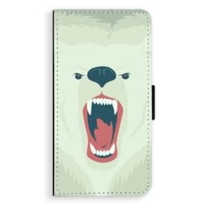 Flipové pouzdro iSaprio Naštvanej Medvěd na mobil Nokia 3