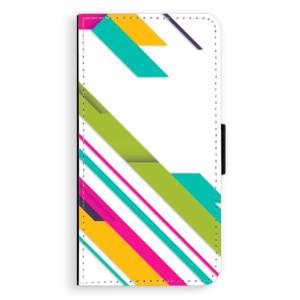 Flipové pouzdro iSaprio Barevné Pruhy 03 na mobil Nokia 3