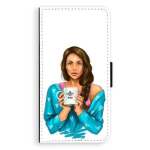 Flipové pouzdro iSaprio Coffee Now Brunetka na mobil Nokia 6
