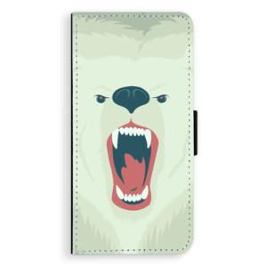 Flipové pouzdro iSaprio Naštvanej Medvěd na mobil Huawei P9