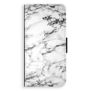 Flipové pouzdro iSaprio Bílý Mramor 01 na mobil Huawei P9