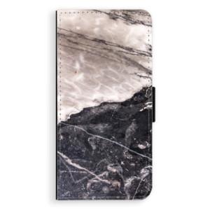 Flipové pouzdro iSaprio BW Mramor na mobil Huawei P9