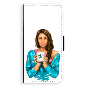 Flipové pouzdro iSaprio Coffee Now Brunetka na mobil Huawei P9