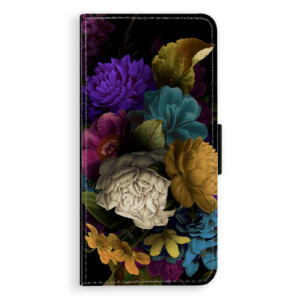 Flipové pouzdro iSaprio Temné Květy na mobil Huawei P9