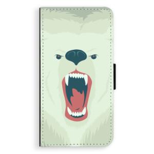Flipové pouzdro iSaprio Naštvanej Medvěd na mobil Huawei P9 Lite