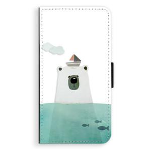 Flipové pouzdro iSaprio Medvěd s Lodí na mobil Huawei P9 Lite