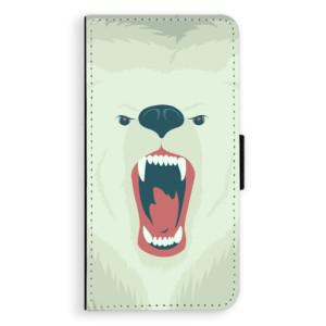 Flipové pouzdro iSaprio Naštvanej Medvěd na mobil Apple iPhone 7 Plus