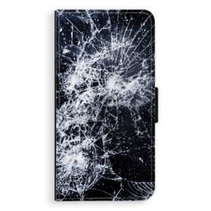 Flipové pouzdro iSaprio Praskliny na mobil Apple iPhone 7 Plus