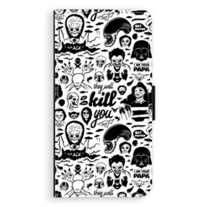 Flipové pouzdro iSaprio Komiks 01 black na mobil Apple iPhone 7 Plus