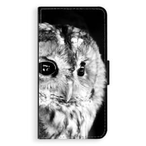 Flipové pouzdro iSaprio BW Sova na mobil Apple iPhone 7 Plus