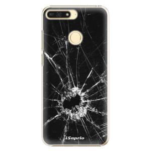 Plastové pouzdro iSaprio Broken Glass 10 na mobil Honor 7A