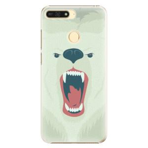 Plastové pouzdro iSaprio Naštvanej Medvěd na mobil Honor 7A